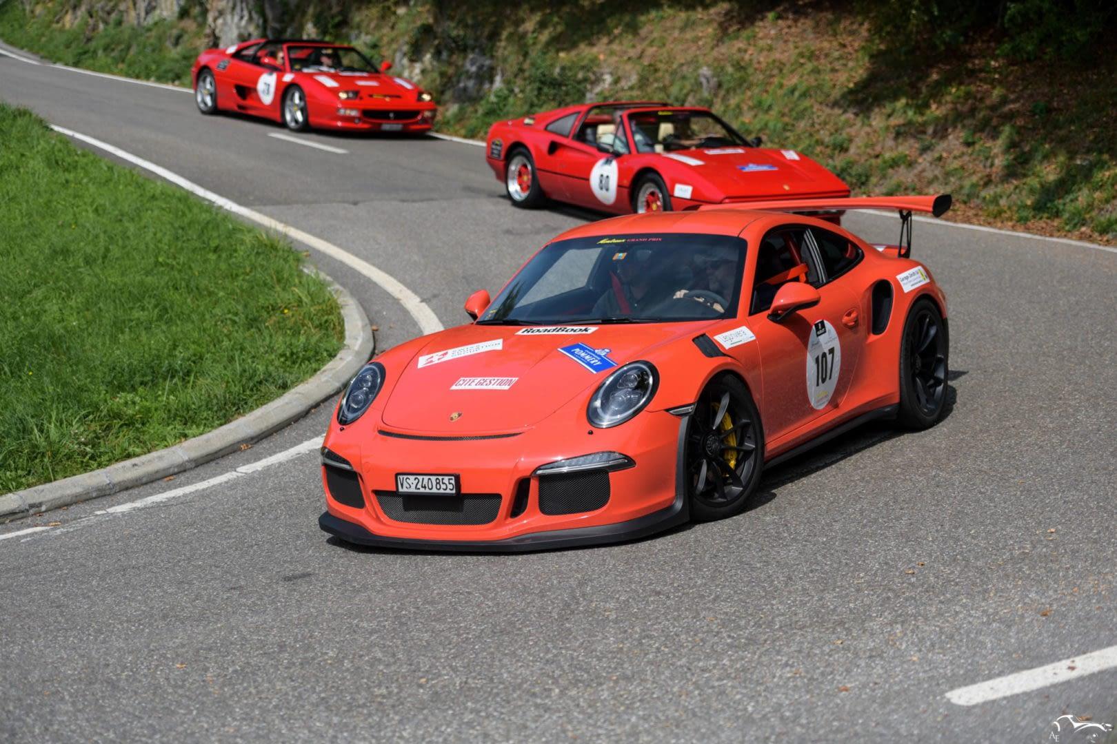 Porsche 911 GT3 RS & Ferrari 328 GTS & Ferrari F1 355