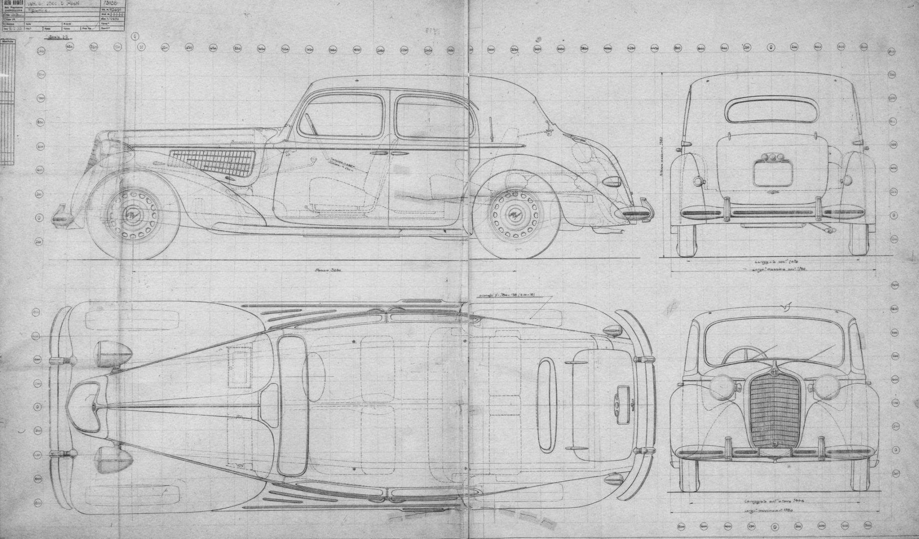 Alfa Romeo car blueprint