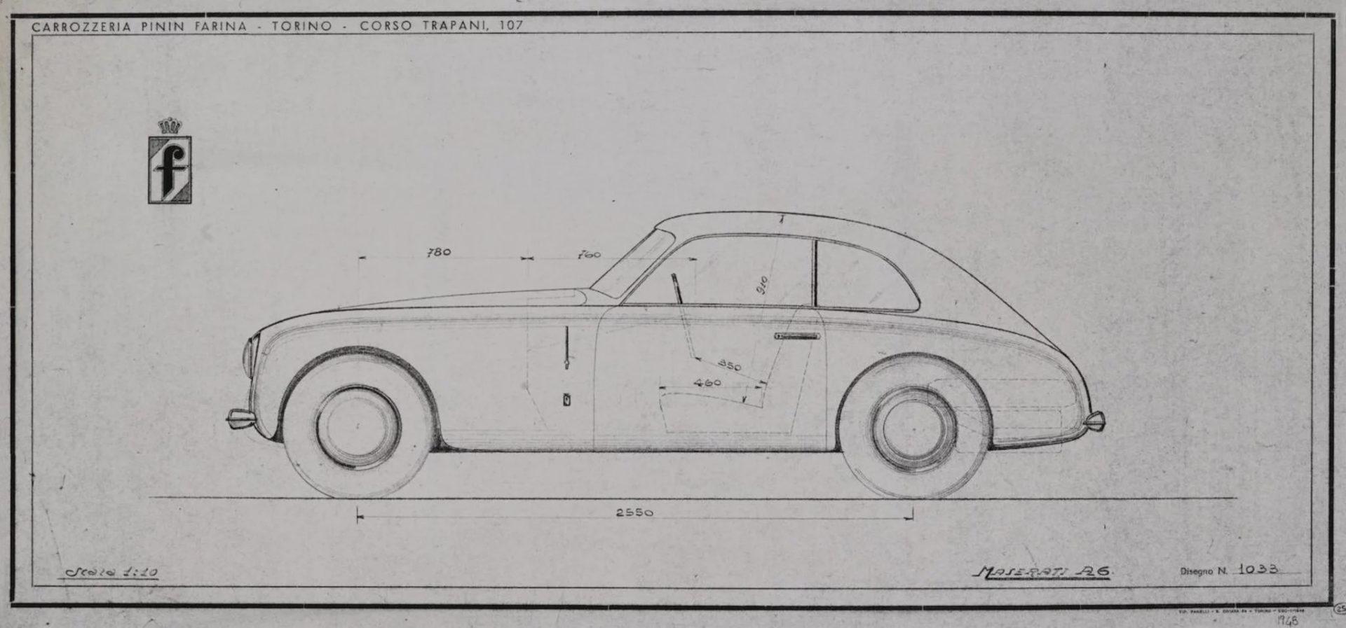 Maserati car blueprint