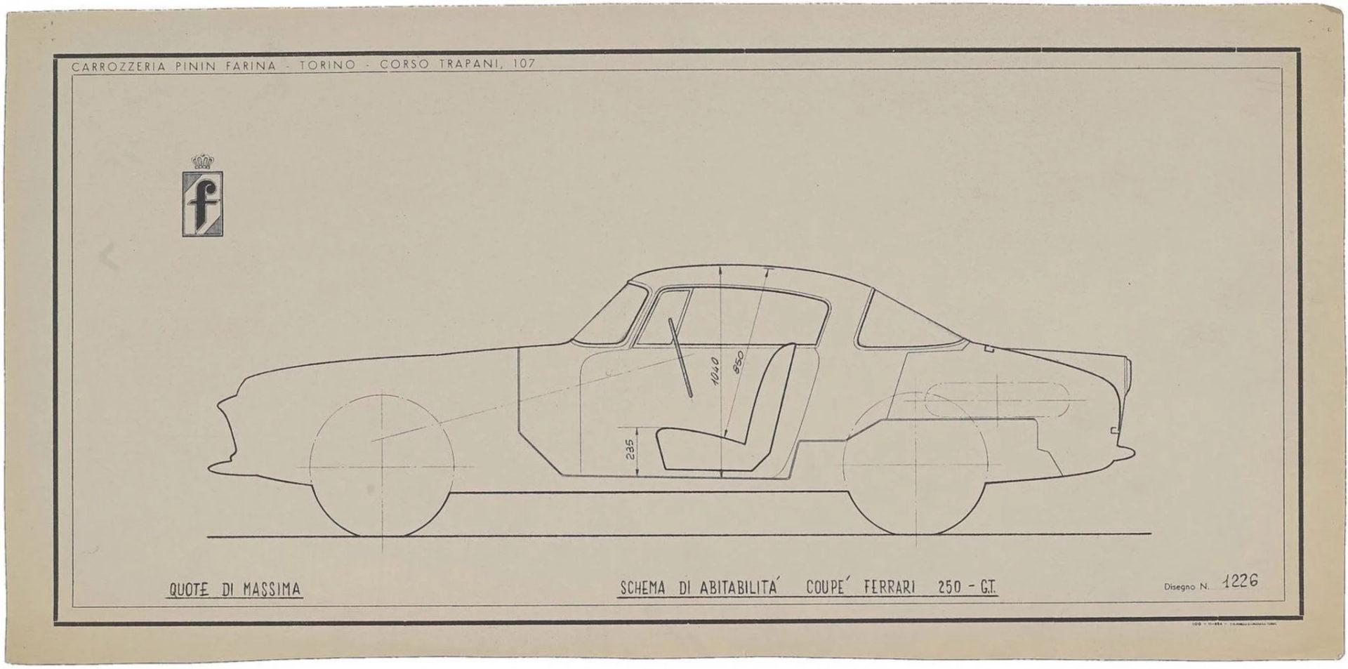 Ferrari car blueprint