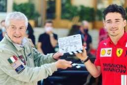 Claude Lelouch and Charles Leclerc