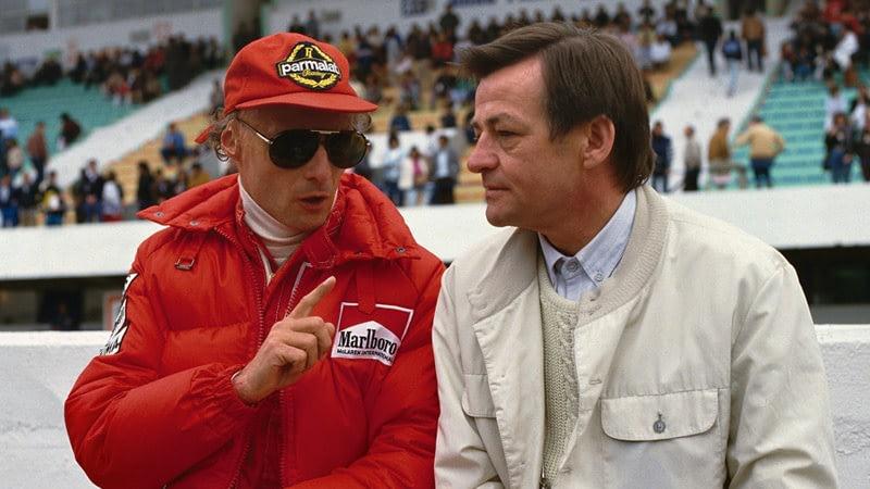 Hans Mezger with Nikki Lauda